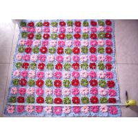 Wholesale Purple And Pink Crochet Baby Security Blanket Roses Handcrafted Baby Blankets from china suppliers