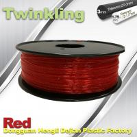 Wholesale Flexible 3D Printer Filament Twinkling 3mm 1.75mm Red Filament 1.3Kg / Roll from china suppliers