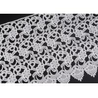 China Wholesale White Flower Clothing Label Water Soluble Lace Trim For Garment on sale