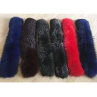 Wholesale Raccoon fur collar Luxurious Ladies Long Dechable Leather Coat Collar 100cm from china suppliers