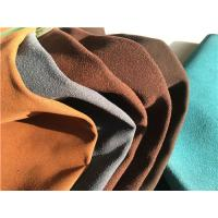 Wholesale Blue , Brown Footwear Embossed Suede Leather Fabric With 1.0-1.4 mm Thickness from china suppliers