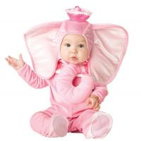 China Pink Elephant Newborn Girl Halloween Costumes Jumpsuit 0-24 Months on sale