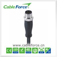 Wholesale 2A 30V M12 8pin male A-Coding circular connector molded with cable waterproof connector from china suppliers