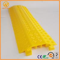Wholesale Yellow One Meter PVC Light Duty Cable Protector Ramp Plastic 3 Channels 2.5kg from china suppliers