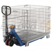 Wholesale Collapsible Logistic Wire Container Storage Cages , Wire Mesh Storage Cages from china suppliers