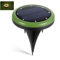 Wholesale waterproof outdoor 8led solar ground spot lights in green (warm white Led color) for Yard Driveway Lawn Pathway White from china suppliers