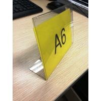 Buy cheap L Shaped Acrylic Pop Displays , Plexiglass Price Tag Holder from wholesalers