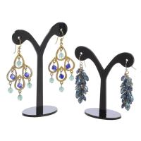 Wholesale Round Tree Shape Black Acrylic Jewelry Earring Display Perspex Jewellery Earring Holder from china suppliers