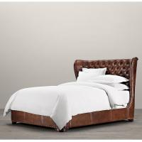 Wholesale Bedroom Furniture Churchill queen size leather bed , double leather beds from china suppliers