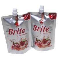Wholesale Standing 400ml Strawberry Flavour Juice Spout Doypack Bags , Liquid Nozzle Bag from china suppliers