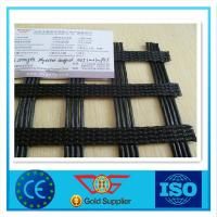 Wholesale Polyester Coating Warp - Knitted PVC Geogrid Pavement Reinforcing Fabric With CE from china suppliers