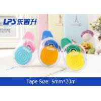 Quality Colorful Non-refillable Cute Correction Tape 5MM * 20M Roller for sale