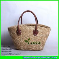 Wholesale LUDA Natural Straw Handbags Pliated Women Wheat Straw Bag from china suppliers