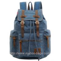 Wholesale Fashion Blue Canvas Laptop Bag,Sports Bag, Travel backpack (MH-2107) from china suppliers