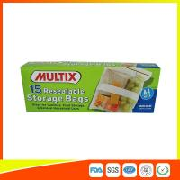 Wholesale Supermarket Plastic Food Storage Bags / Zip Up Storage Bags Resealable Food Safe from china suppliers