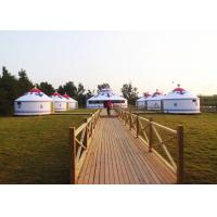 Quality 21 Square Meters Mongolian Homes Yurts Tent For Living Waterproof Sun Proof for sale