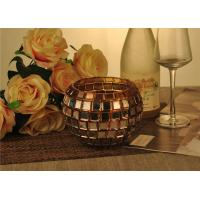 Wholesale Vintage Gold Glass Candle Holder / Candle Cups Shock Resistant With 1119ml from china suppliers