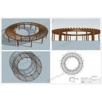 Wholesale wood plastic round pergolas (OLDA-5400B) from china suppliers