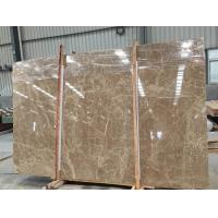 Quality Light Cream Engineered Stone Countertop , Polished Marble Tile Kitchen Countertops for sale
