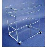 Wholesale clear plexiglass lucite bar cart,acrylic food trolley for dining room from china suppliers