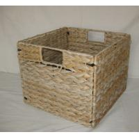 Wholesale 2016 water hyacinth square foldable storage basket/sundries basket 23cm*23cm from china suppliers