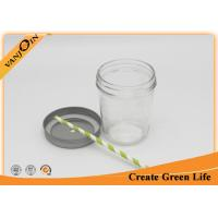 Wholesale Wide Mouth 400ml Mason Taper Glass Storage Jars with Lids For Caviar Food Jam from china suppliers