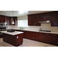 Wholesale Classic Solid Wood Kitchen Cupboards With Slider Basket And White Marble Countertop from china suppliers
