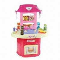 Buy cheap 24-piece Plastic Pink Mini Kitchen Toy Play Sets, Measuring 60 x 36 x 61cm from wholesalers