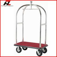Wholesale Hotel Birdcage Luggage Cart in Silver/ Birdcage Bellman's Cart from china suppliers