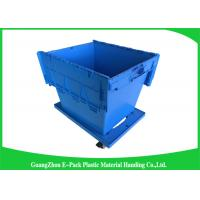 Wholesale 60L Large Plastic Storage Boxes With Lids , Plastic Shipping Containers With Attached Lids from china suppliers