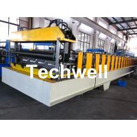 Wholesale Roof Deck Panel Roll Forming Machine For 0.5 - 1.2mm Material Thickness from china suppliers