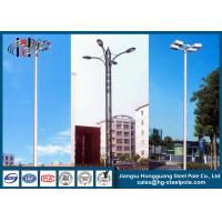 Wholesale Outdoor HDG Round Decorative Street Light Pole Powder Coated from china suppliers