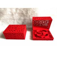Wholesale Red Luxury Velvet Jewelry Box Free Standing For Bangles 100*100*70 Mm from china suppliers