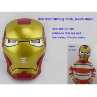 Wholesale Luminous plastic mask, Iron-man led mask , flashing mask from china suppliers