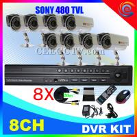 Wholesale 8 Cameras H.264 Video Compression DIY DVR Kit CEE-DVR-8208V C910 from china suppliers