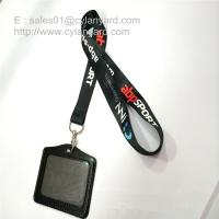 Quality Dye sub printing lanyard with leather badge, dye sub print ribbon with metal swivel clip for sale