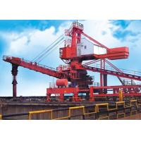 Quality Mobile Rubber Tyred Port Gantry Crane , Rail Mounted Continuous Ship Unloader for sale