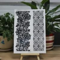 Wholesale Custom Printed Body Makeup Black Tattoo Stickers Temporary Hollow Lace from china suppliers