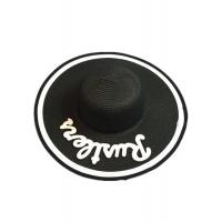Wholesale Striped Black Wide Brim Hat , Womens Wide Brim Felt Hats Custom Made from china suppliers