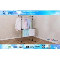 Wholesale Bathroom / Balnocy Floor Standing Towel Rack Movable Space Saving from china suppliers