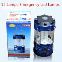 Wholesale 12 Lamps 3 pcs AA Dry Batteries Powered Outdoor Camping Bulb/Emergency/Tents/Climbing Lamp from china suppliers