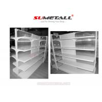 Wholesale Metal Drug Store Gondola Retail Display Shelving With Clear PVC Backing Panel from china suppliers