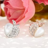 Wholesale Ref No.: 440204 Apple Heart Earring imitation jewellery wholesale crescent jewelry from china suppliers