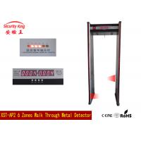 Wholesale Door framed Walk Through Metal Detector Gate Remote control , Performance from china suppliers