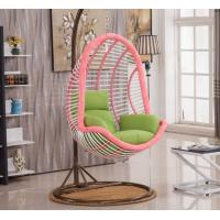 Quality Indoor Outdoor Furniture Patio Rattan Double Size Swing Hanging Egg Chair With Steel Pole And Egg Chairs for sale
