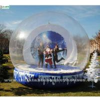 Buy cheap Custom Christmas Human Advertising Inflatables Snow Globe For Show / Decoration from wholesalers