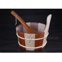Wholesale 1 Gallon Cedar Sauna Barrel Kits Plastic Liner With Cedar Dipper from china suppliers
