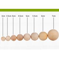 Wholesale Small Cherry Decorative Wooden Balls Varnished 60 mm For Crafts from china suppliers