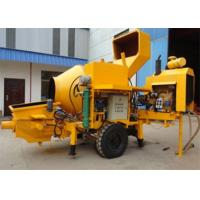 Wholesale 30m3 / H Mobile Concrete Mixer With Pump And 600 L Hopper Capacity from china suppliers
