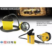 Wholesale 25000Lux 12Ah Corded Minining Cap Lamp with 4 Lighting Levels , 490g Lightweight Headlamp from china suppliers